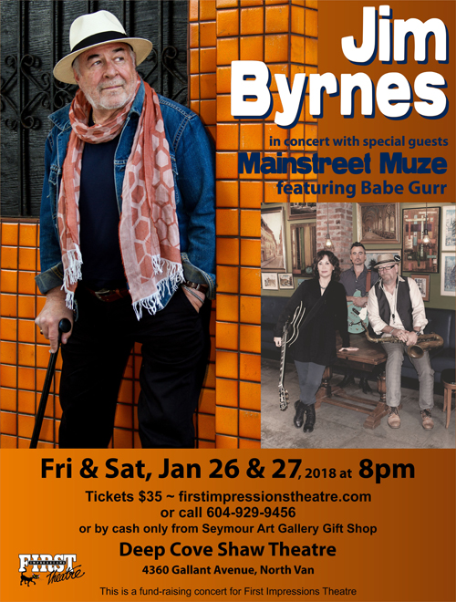 Jim Byrnes Concert in Deep Cove First Impressions Theatre